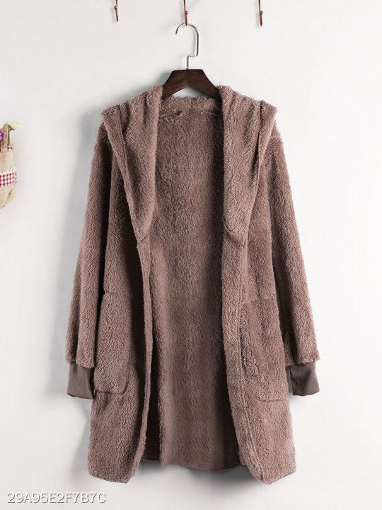 Hooded Plain Coat