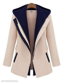 Fancy Hooded With Pockets Assorted Colors Overcoat
