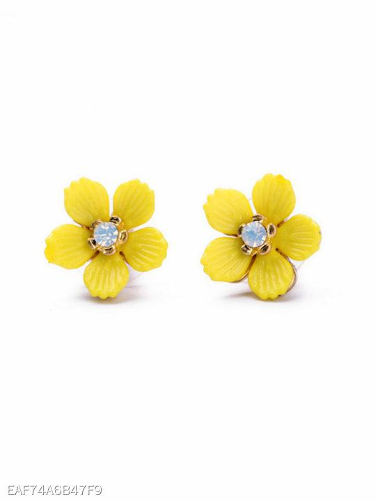 Yellow Floral Cute Earrings