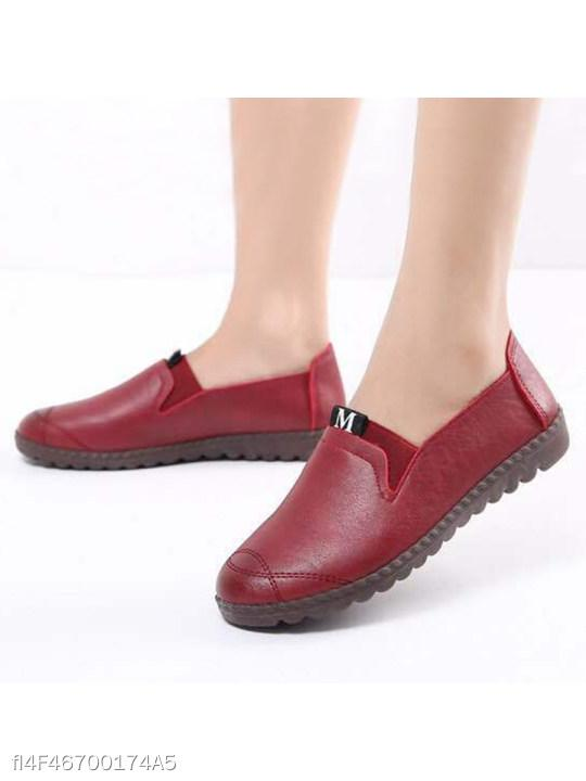 Soft Middle-Aged Women's Flat Shoes