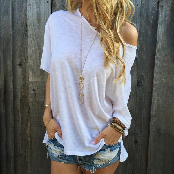 Sassy One Shoulder Summer T-shirt