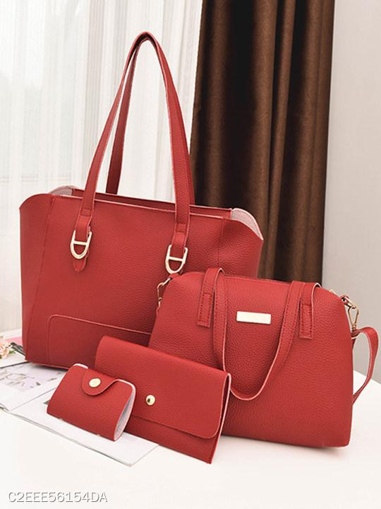 Stylish Leisure Simple Women Bag Set (4 Pieces)