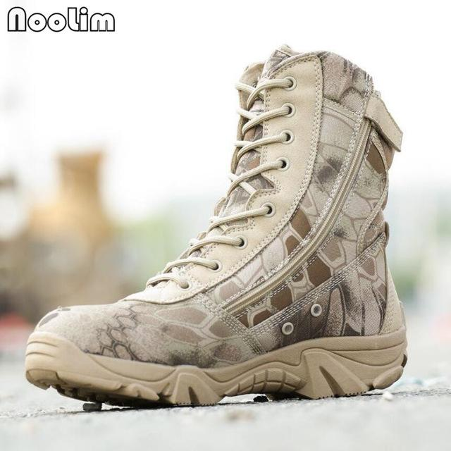 Boots - 2017 New Men Camouflage and Black Tactical Combat Boots - Bevsu