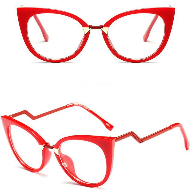 Eyewear - Ladies Sexy Cat Eye Frames Brand Designer Optical Eye Glasses