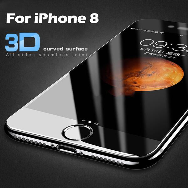 3D Curved Soft Edge Full Tempered Glass For iPhone 8 8 Plus - bevsu