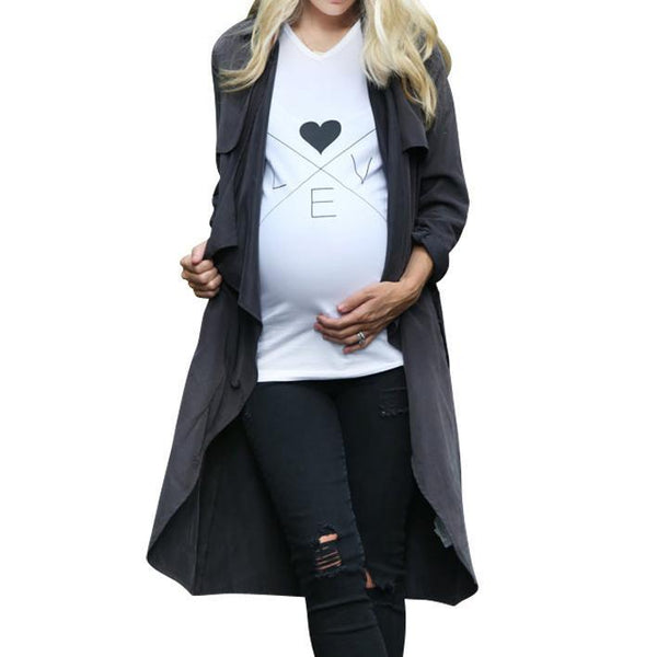 LOVE Print Maternity T-Shirt
