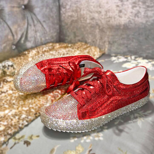 2019 new diamond fashion casual flat shoes