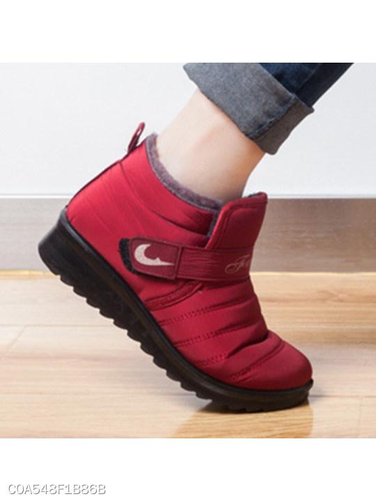 Plain Flat Round Toe Casual Ankle Flat Boots