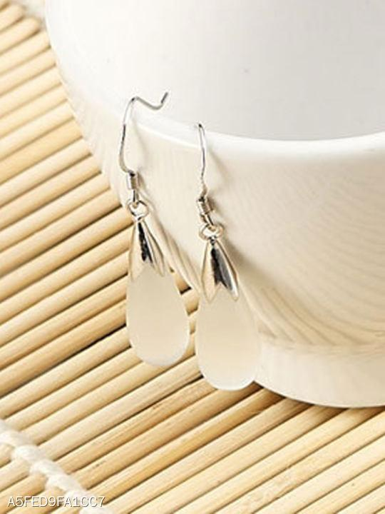 Plain Water Drop Shape Earrings For Women