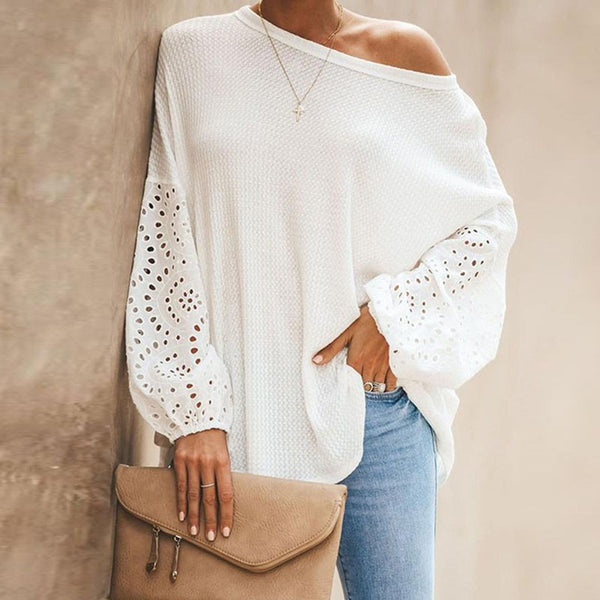 Glamorous One Shoulder Long-sleeve Tee Top