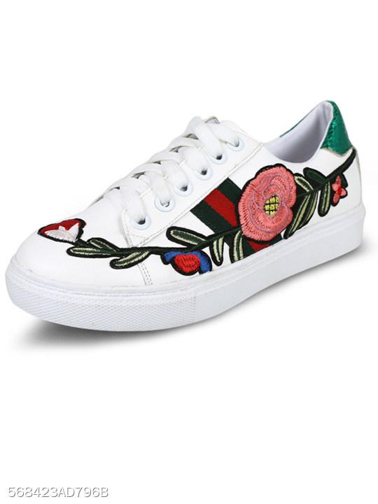 Graffiti Flat Elastic Casual Sneakers