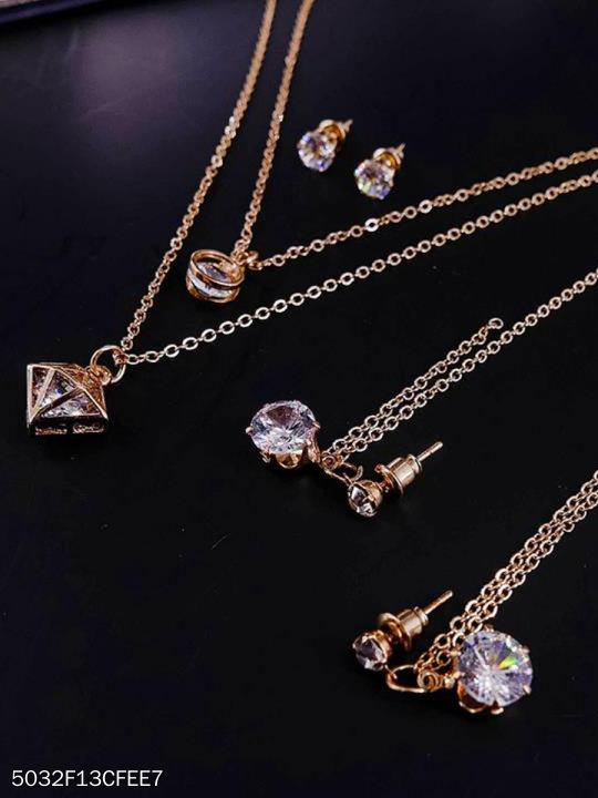 Elegant Imitated Crystal Jewelry Sets For Women
