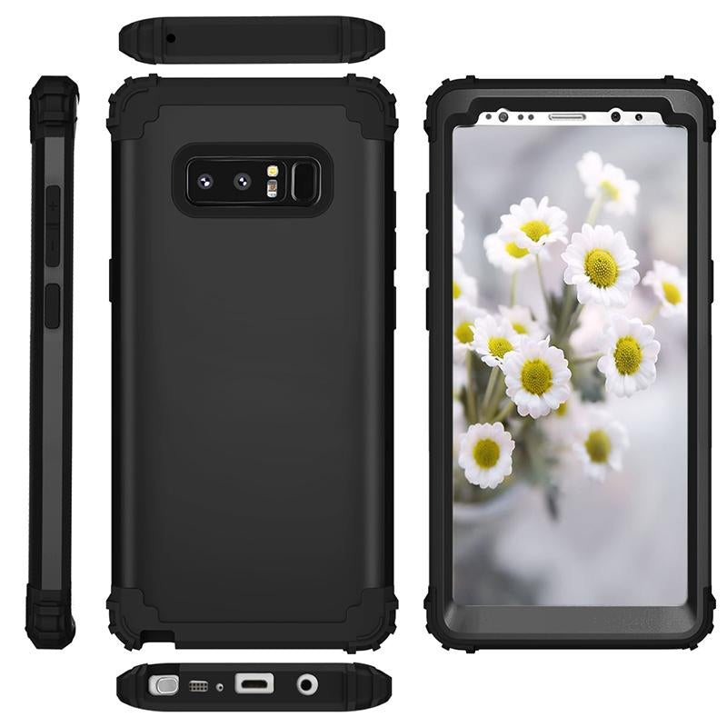 3 in 1 TPU & PC Hard Phone Cases For Samsung Galaxy S8 S8 Plus Note 8 - bevsu