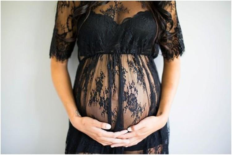 Maternity Lace Photo Props Gown