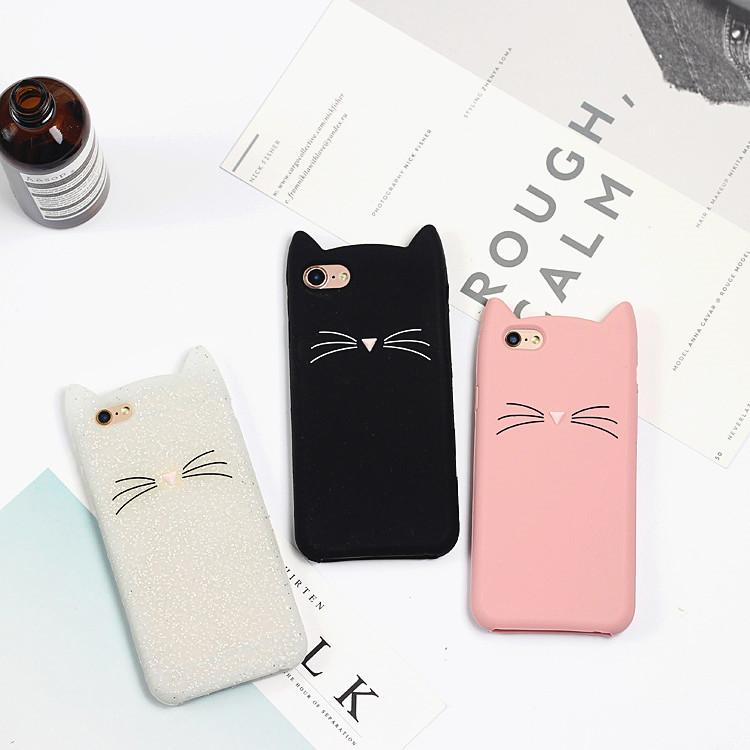 3D Smile Cat Soft Silicone Case for iPhone 5 5S SE 6 6S Plus 8 7 7Plus X - bevsu