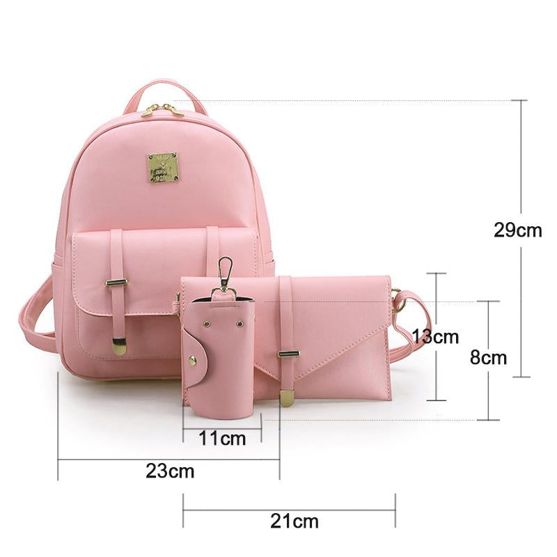 Backpack -  3Pcs/Set Zipper Mini Backpack - Bevsu