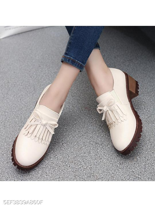 Plain Chunky Mid Heeled Round Toe Date Office Ankle Boots