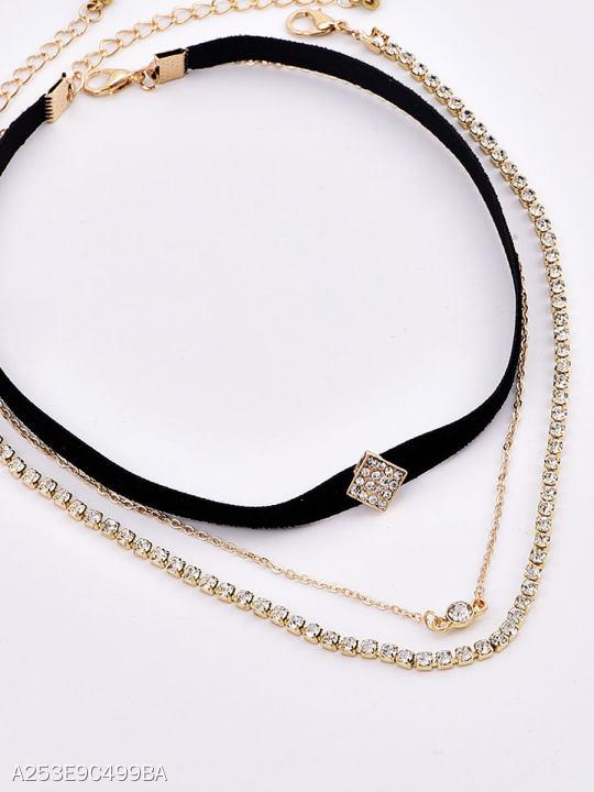 Faux Crystal Chocker Necklace