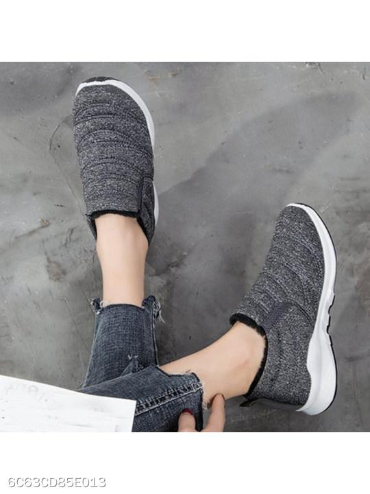 Flat Round Toe Casual Sport Sneakers