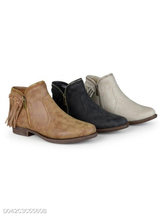 Plain Flat Point Toe Date Outdoor Ankle Flat Boots