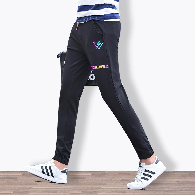 Men's Casual Pocket Printed Slim-Leg Pants