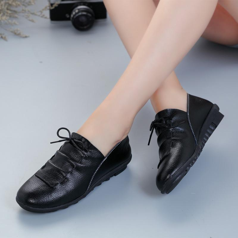 Plain Flat PU Casual Flat & Loafers