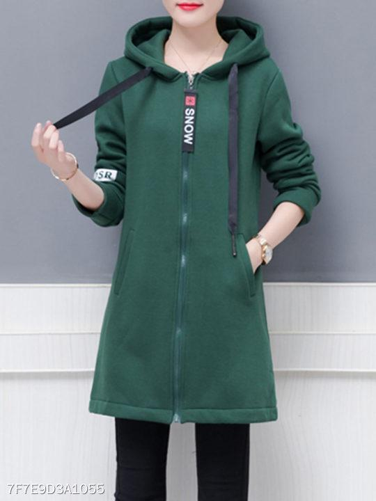 Hooded Letters Coat