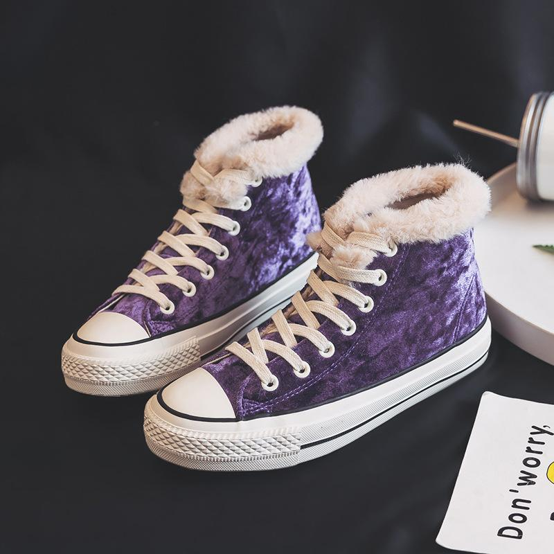 Flat Heel Ankle Fashion Sneakers