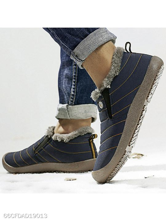 Plain Flat Round Toe Outdoor Ankle Ankle Boots