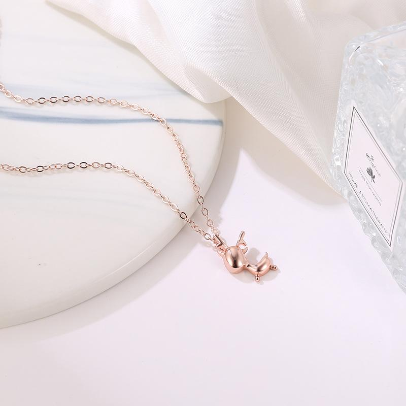 Creative Simple Pendant Clavicle Chain Antler Christmas Small Elk Necklace