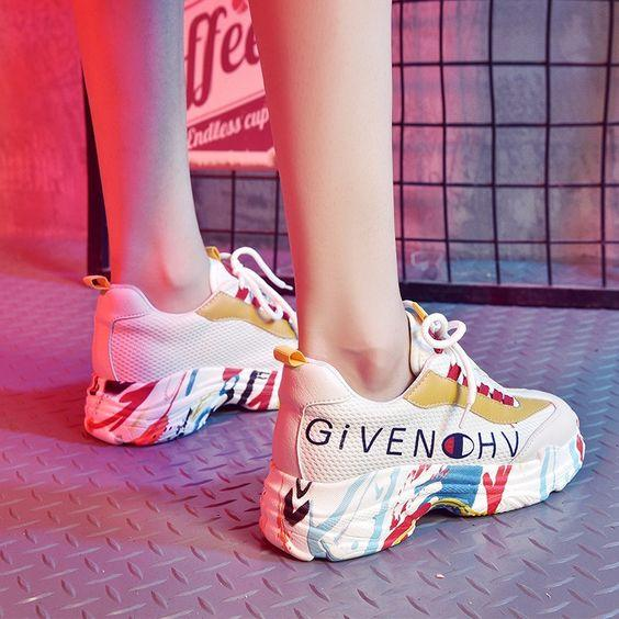 Stylish Floral Print Sneaker Shoes