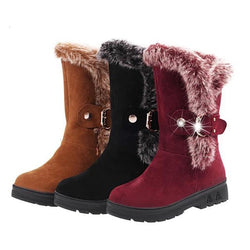 Boots - Fashion Winter Wool Warm Snow Boots - Bevsu