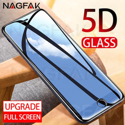 5D Protector Tempered Glass For iPhone 6 6S 7 8 Plus X - bevsu