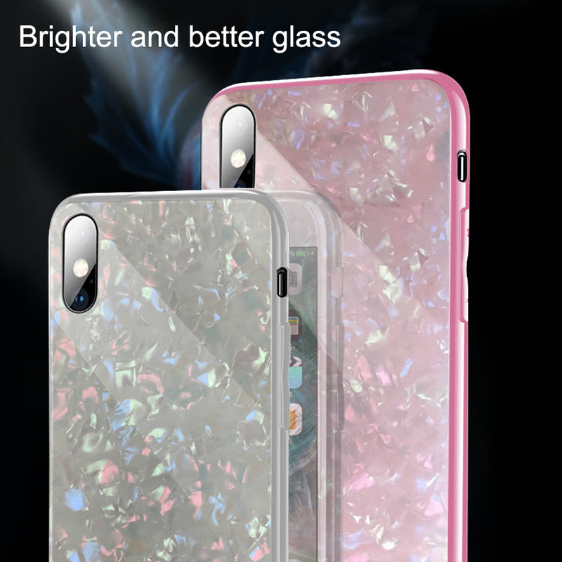 Luxury Tempered Glass Phone Case Full Back Cover For iphone  Silicone Glass Cases Coque - Bevsu