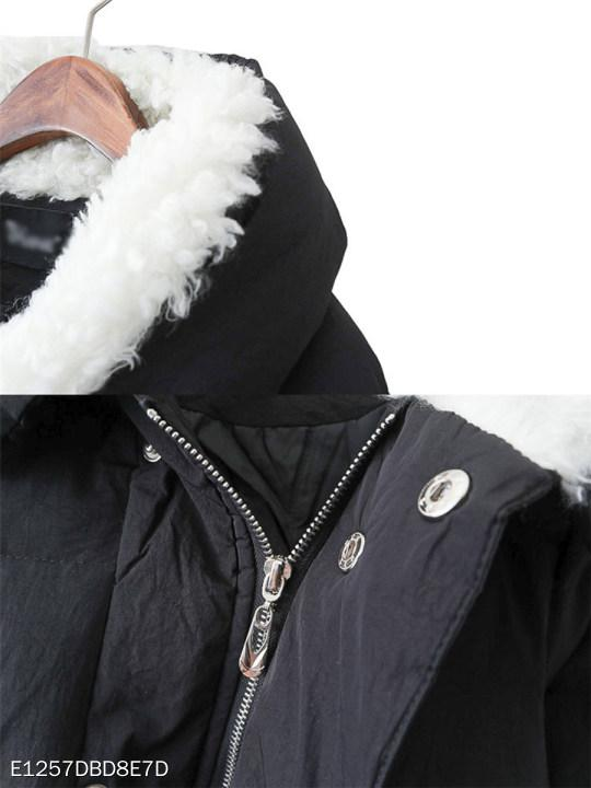 Hooded Zipper Plain Coat