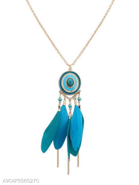 Ethnic Style Women Long Necklace
