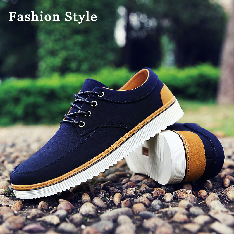 Classic Men Canvas Flat Lace-up Shoes