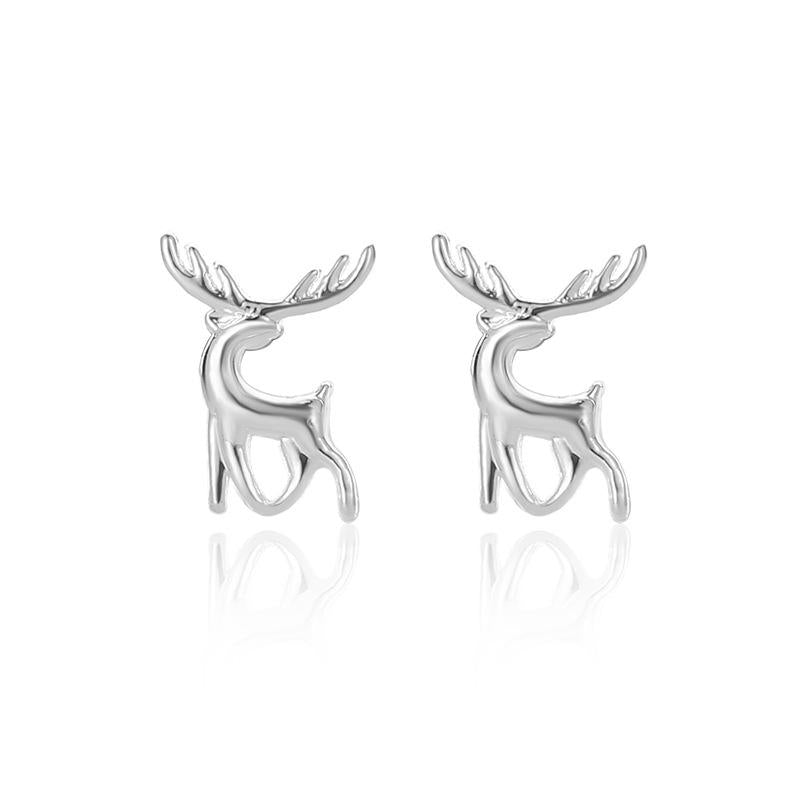 Women Simple Wild Earrings Deer Fashion Earrings