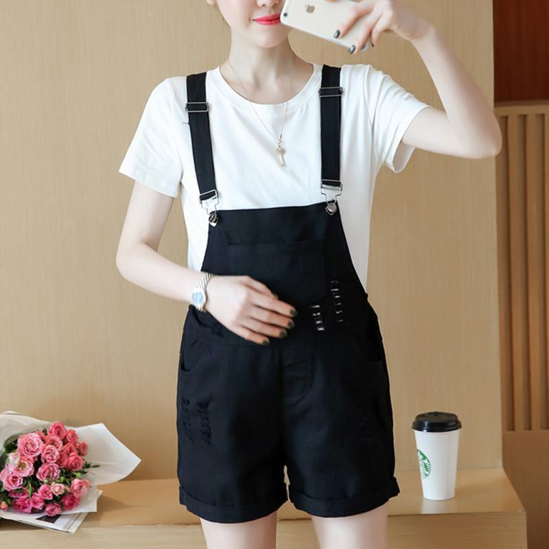 Maternity A Two-Piece Suspender Suit