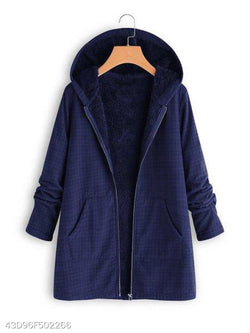 Hooded Grid Coat