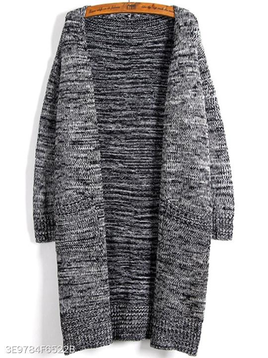V Neck Loose Fitting Knit Cardigans