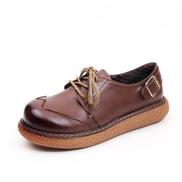 Plain Round Toe Date Outdoor Flat & Loafers