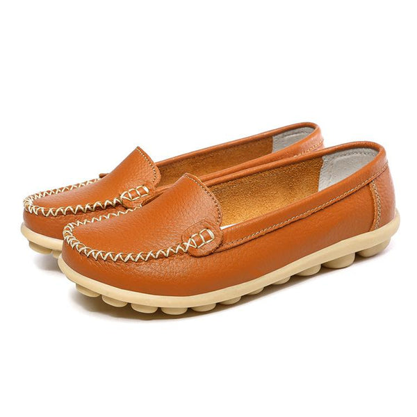 Simple Solid Soft Sole Antiskid Loafers