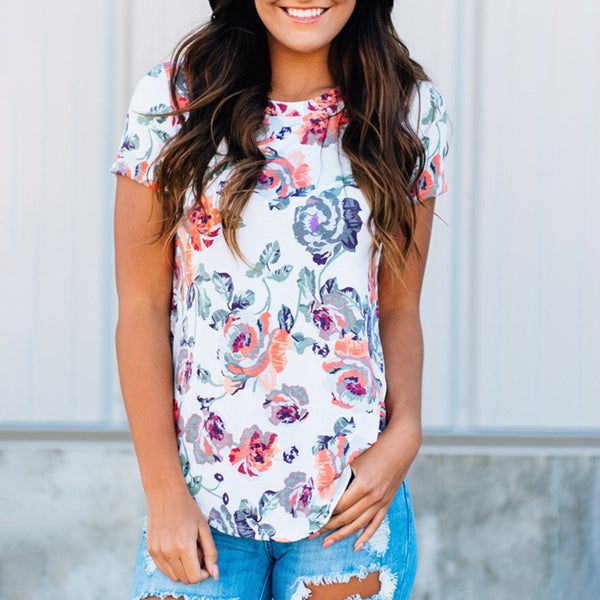 Casual Printed Short-sleeve Summer Tee