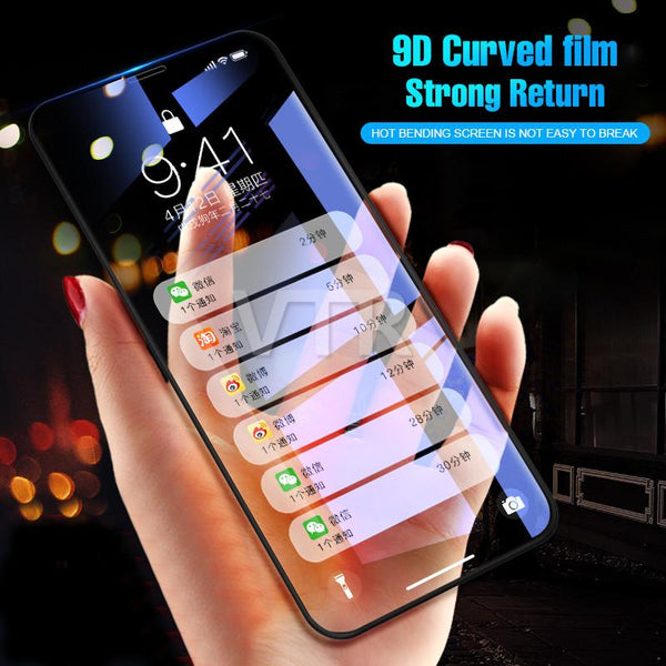 9D Full Cover Curved Edge Tempered Glass For iPhone - bevsu