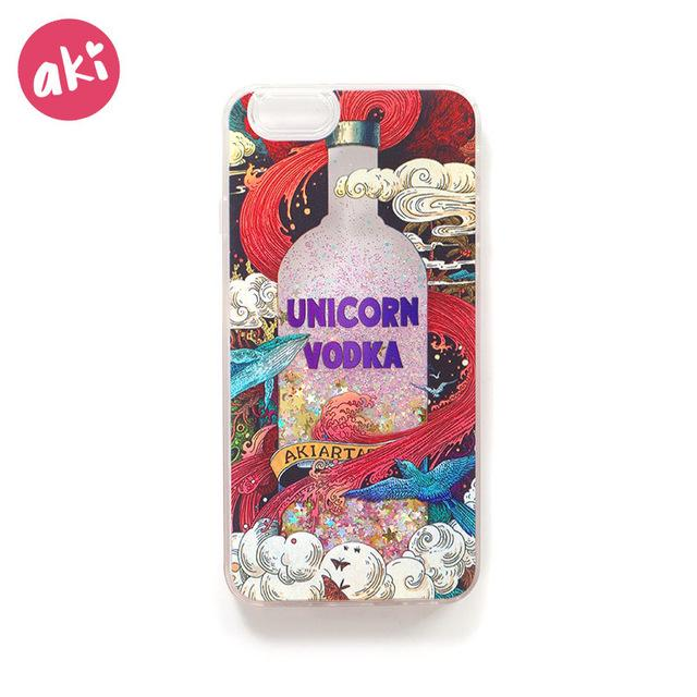Bling Unicorn Glitter Liquid Quicksand Phone Cases for iPhone X 10 8 7 6 6S Plus ( BUY ONE AND GET ONE FREE ) - Bevsu