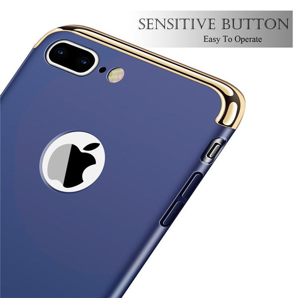 3 in 1 Electroplated Hard Phone Case For iPhone X - bevsu