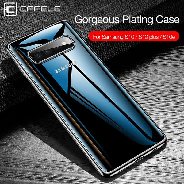 Soft TPU Thin Silicone Plating Transparent Phone Case for Samsung Galaxy S10 Plus S10 Lite