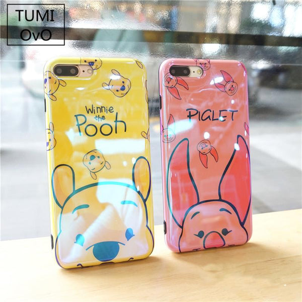 Cute Cartoon Winnie Pink Pig Case For iPhone X 8 7
