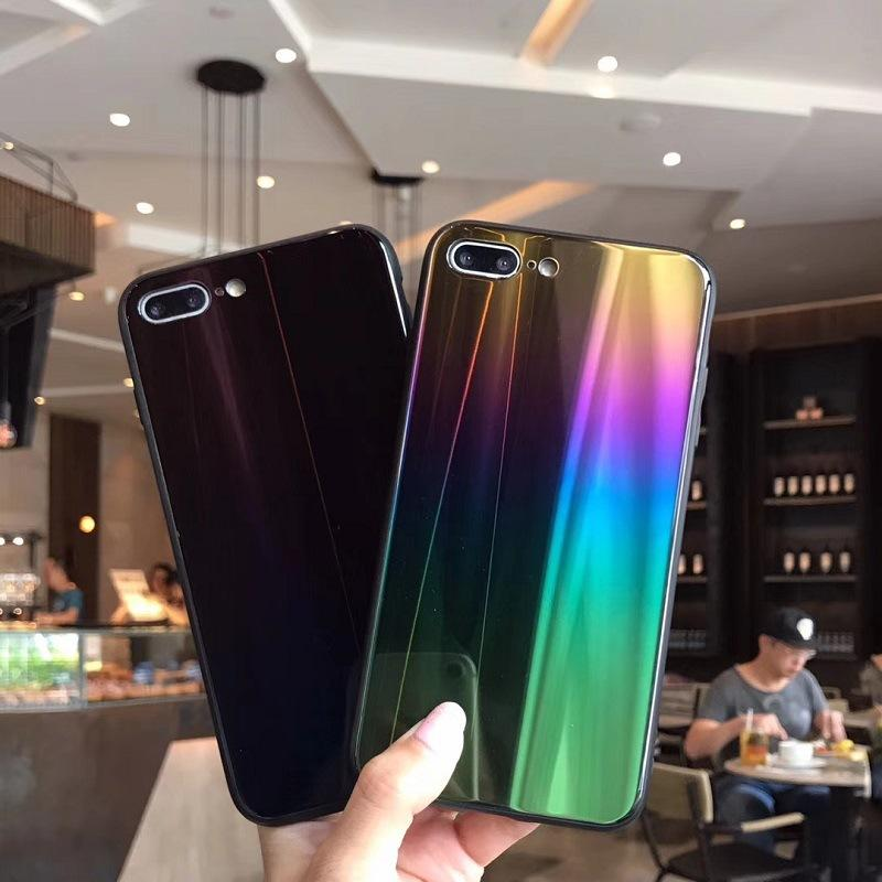 Aurora Gradient Color Bling Glass Luxury Case For Samsung & iPhone - Bevsu